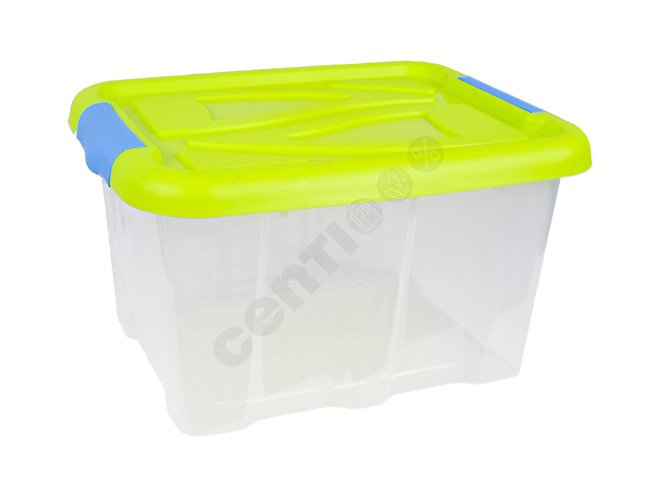 Box with lid, 17<br> liters, 23 x 40 x<br>32 cm, Green