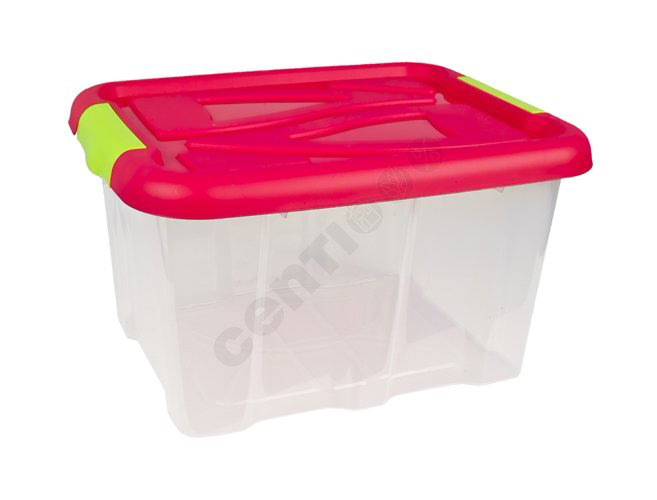 Box with lid, 17<br> liters, 23 x 40 x<br>32 cm, Hot Pink