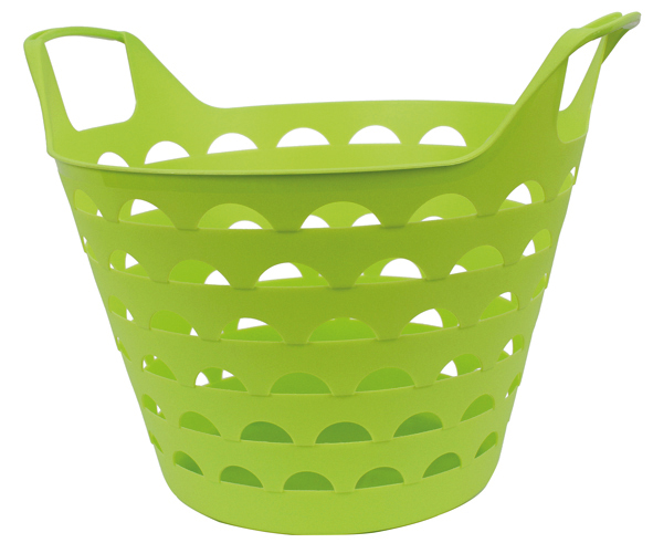 Flexi-Basket, 34 x<br> 30 cm, about 14<br>liters, Green
