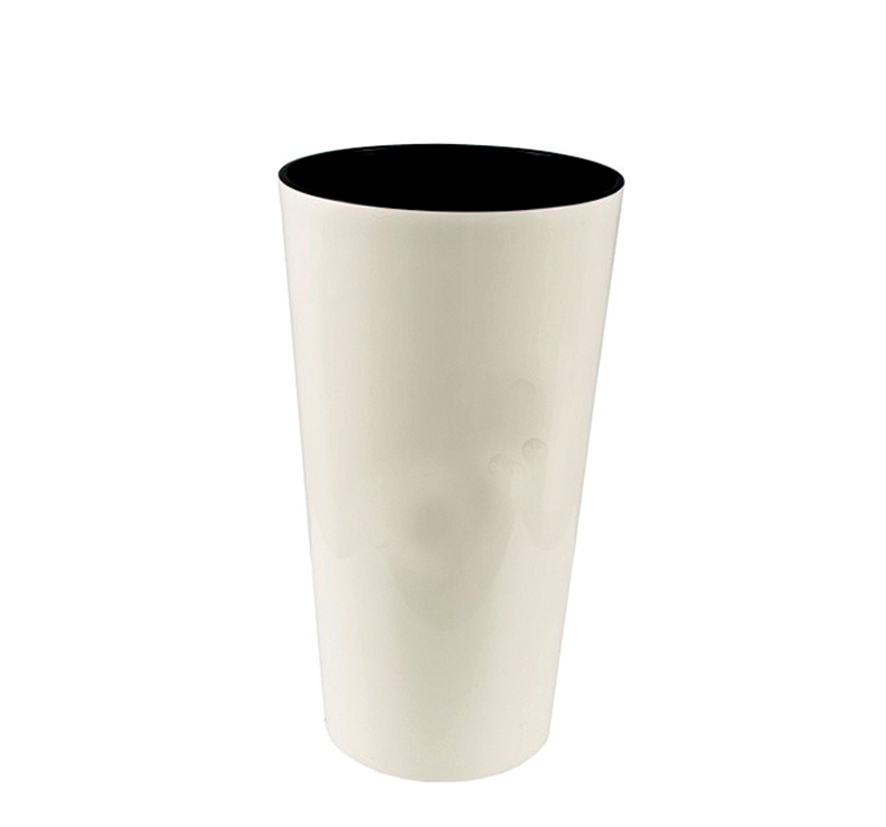 Planter LAMELA, d<br> = 14 cm, h = 26<br>cm, Cream White