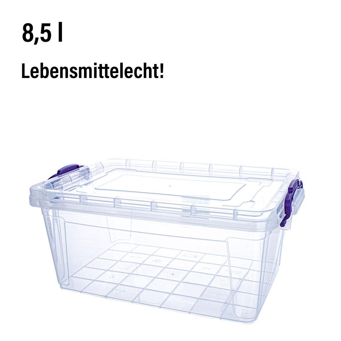 Box mit Deckel &<br> Griffen, 8,5 L,<br>15,5 x 36 x 23cm,