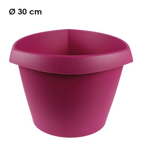 Plant pot Trigon,<br> d = 30 cm, H =<br>21.5 cm, Berry
