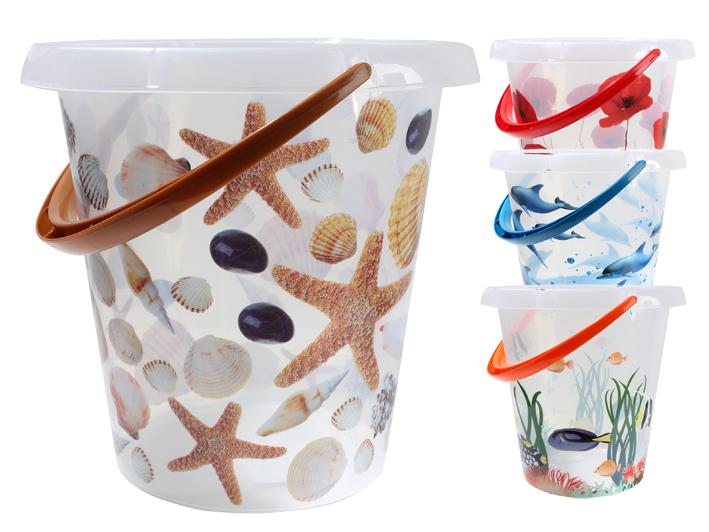 Bucket 12 liter, d<br> = 31 cm, H = 30<br>cm, 4-way sort.
