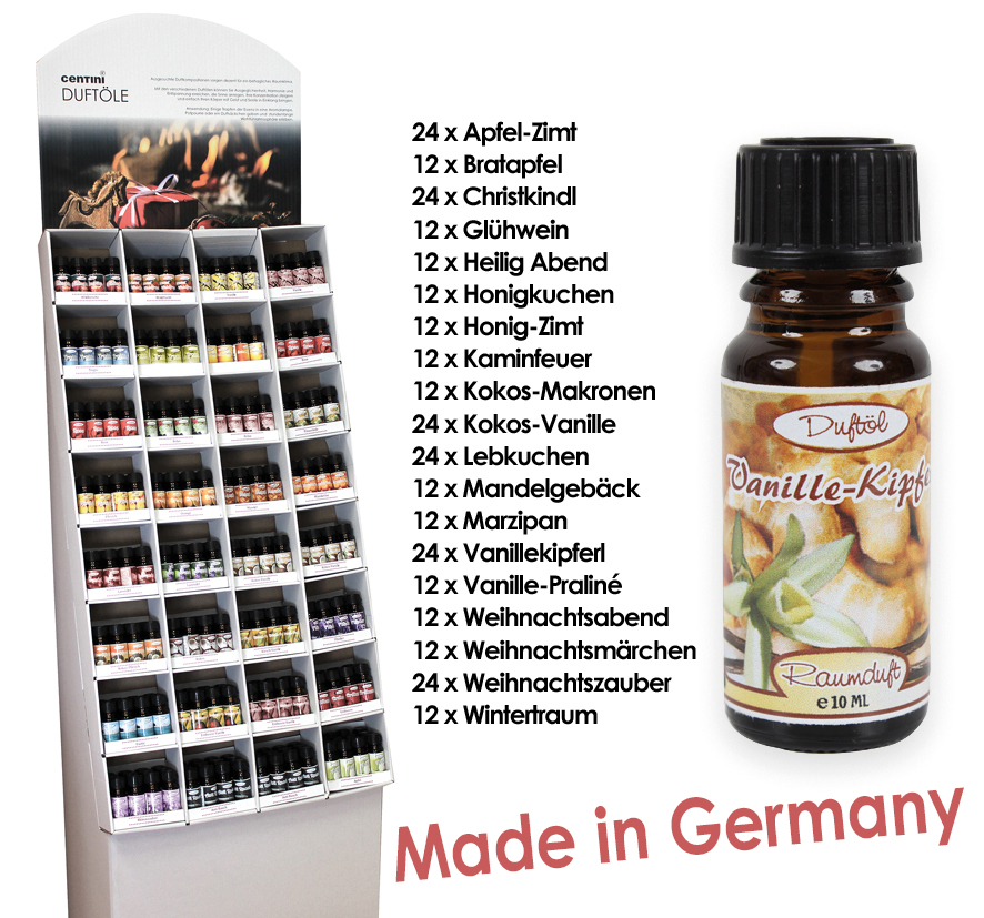 Duftöl im Display<br> Weihnachten 10ml,<br>Bodendisplay