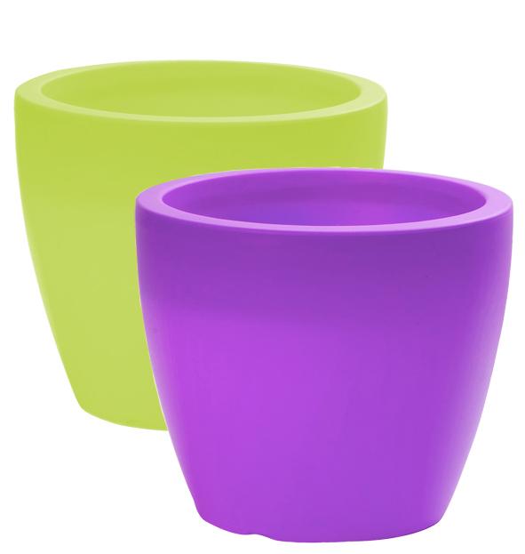 Planter LINEA, d =<br> 20 cm, H = 17 cm,<br>Purple + Gree