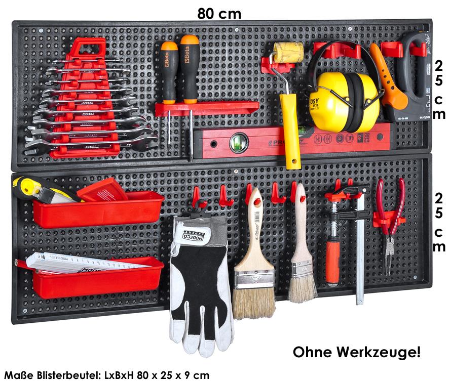 /Werkzeugwand<br> Panele, 26-tlg.<br>Set, 2 x 25 x 80 cm,