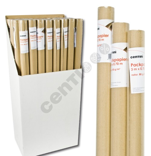 Natural kraft<br> paper, about<br>80gsm, 0.70 x 3m