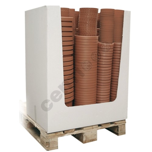 Plant pot display ROMA, 492 parts, terracotta