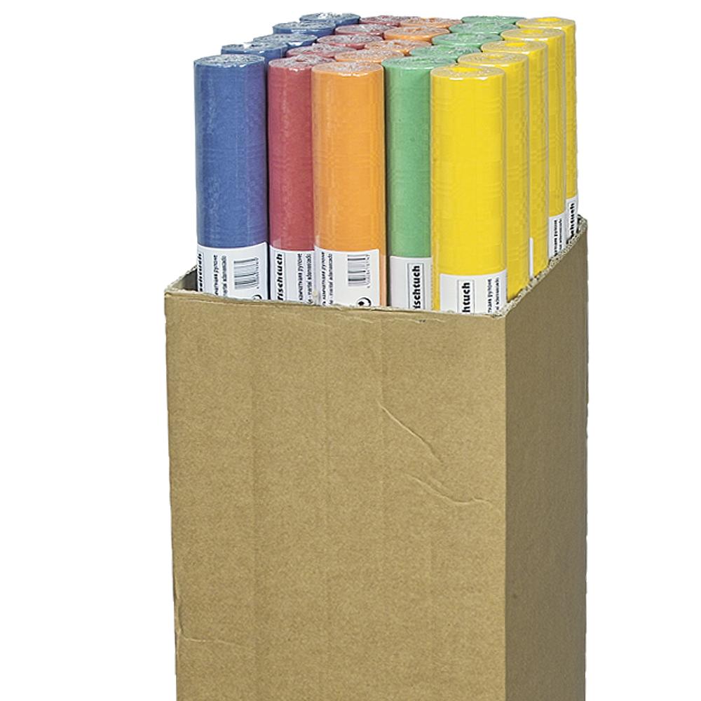 /Tischtuchpapier<br> Tischdecke, 8m x<br>1m, farbig sort.,