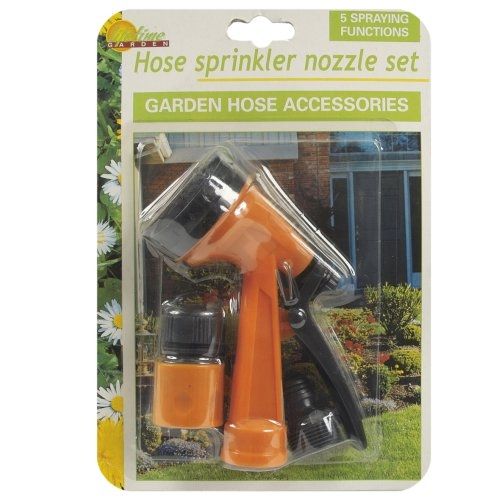 Garden hose shower<br> set, 2-piece,<br>blister,