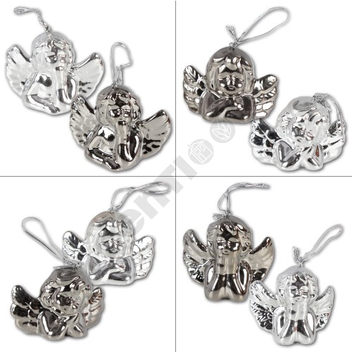 Angel Charms,<br> about 6 x 4 cm, 4<br>different designs,