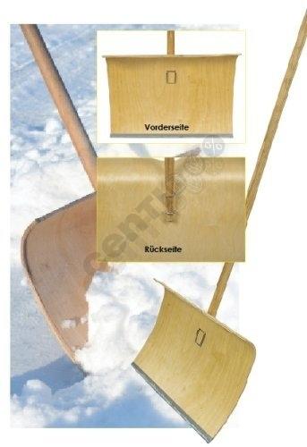 Schneeschieber aus<br> Holz, 50 x 40 x<br>125 cm,