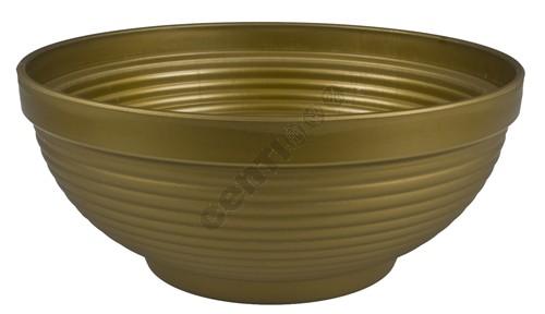 Pflanzschale IRIS,<br> d= 29 cm, H= 14<br>cm, Gold