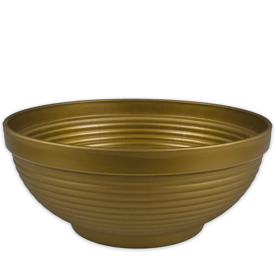 Pflanzschale IRIS,<br> d= 33,5cm,<br>H=14,5cm, Gold