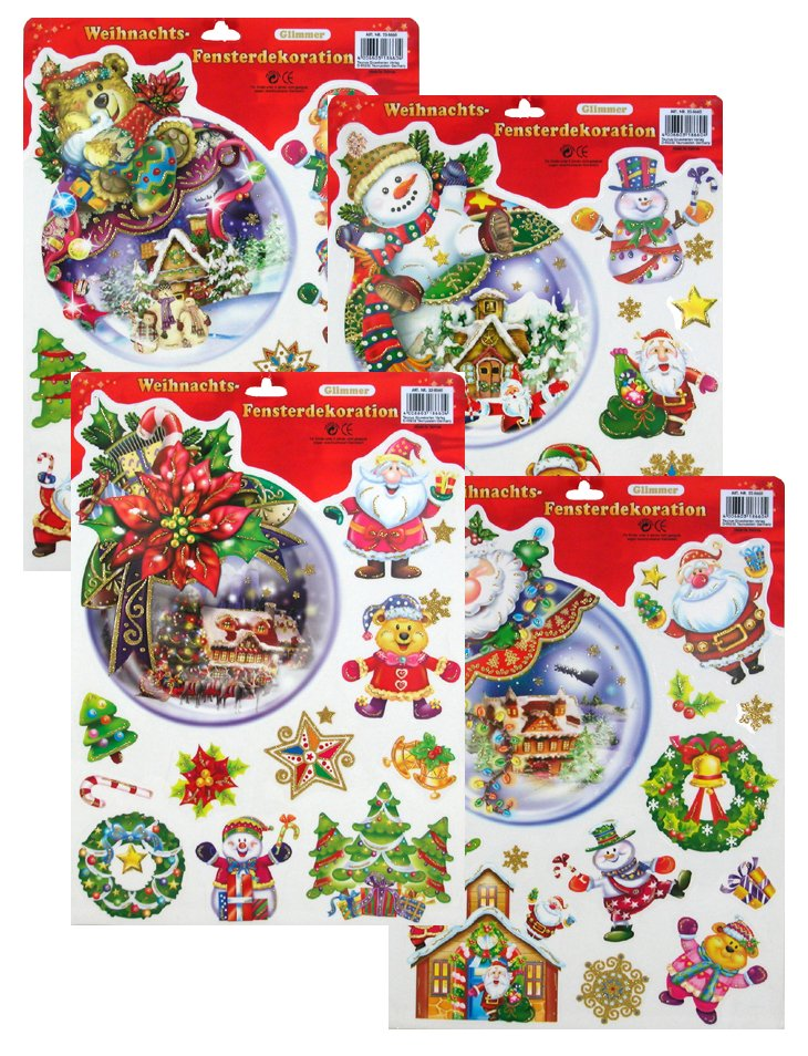 Sticker / window<br> picture christmas,<br>diff. Motives,