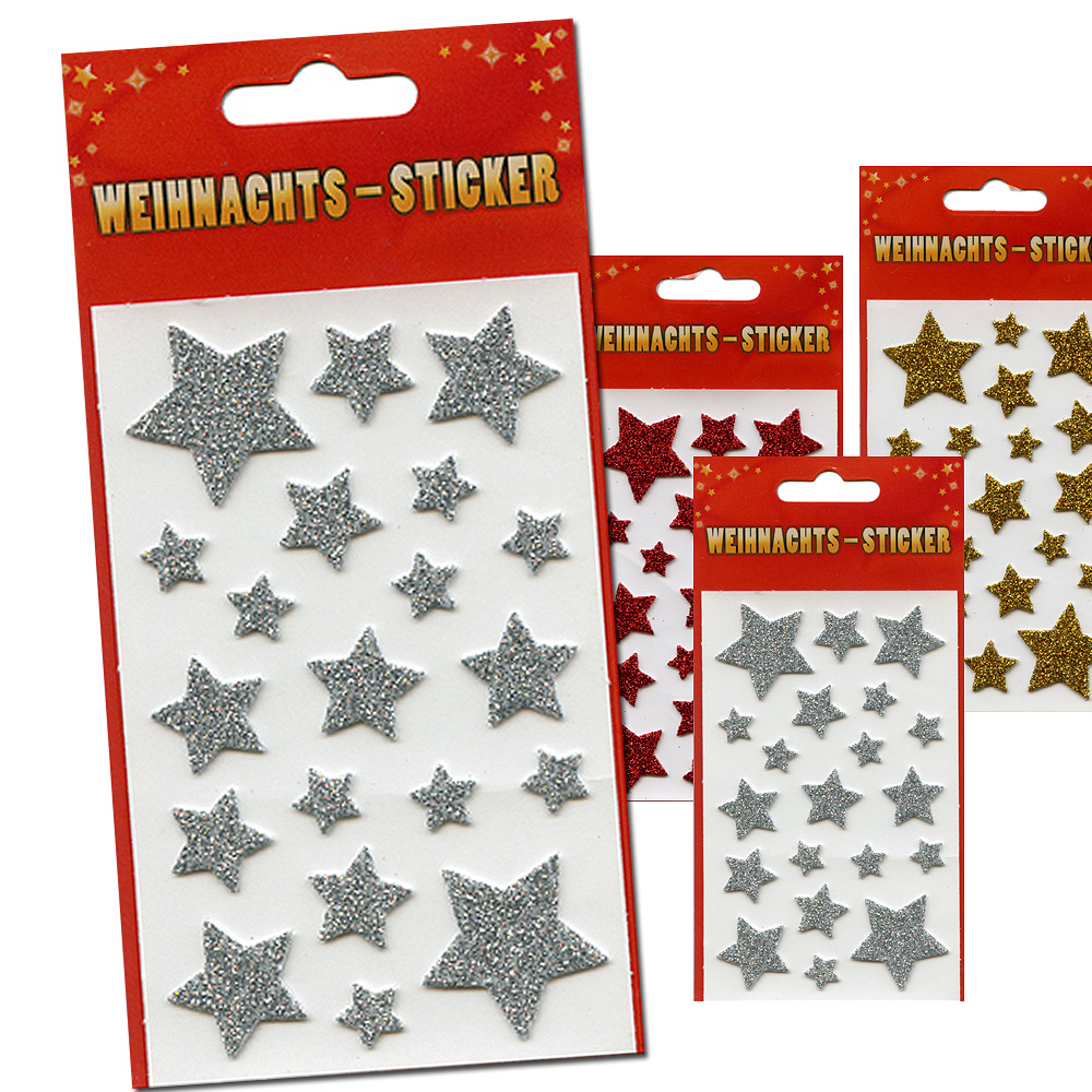 Stickers /<br> Stickers Christmas<br>3D, diff. Motives,