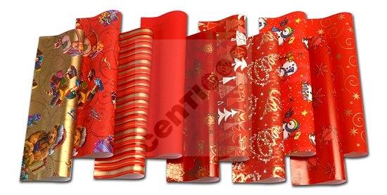 Papier<br> d&#39;emballage de<br> Noël 2 mx 0,70 m, ...
