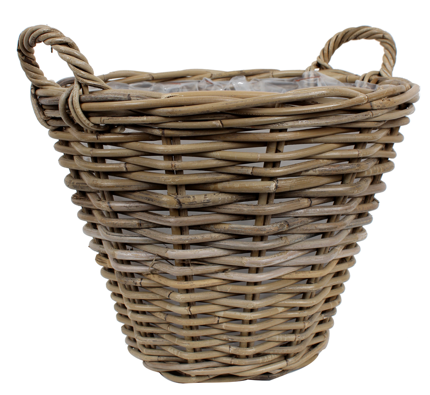 Plant basket from<br> willow, d = 39 cm,<br>height = 31 c